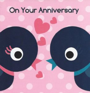 On Your Anniversary Card - Two Birds